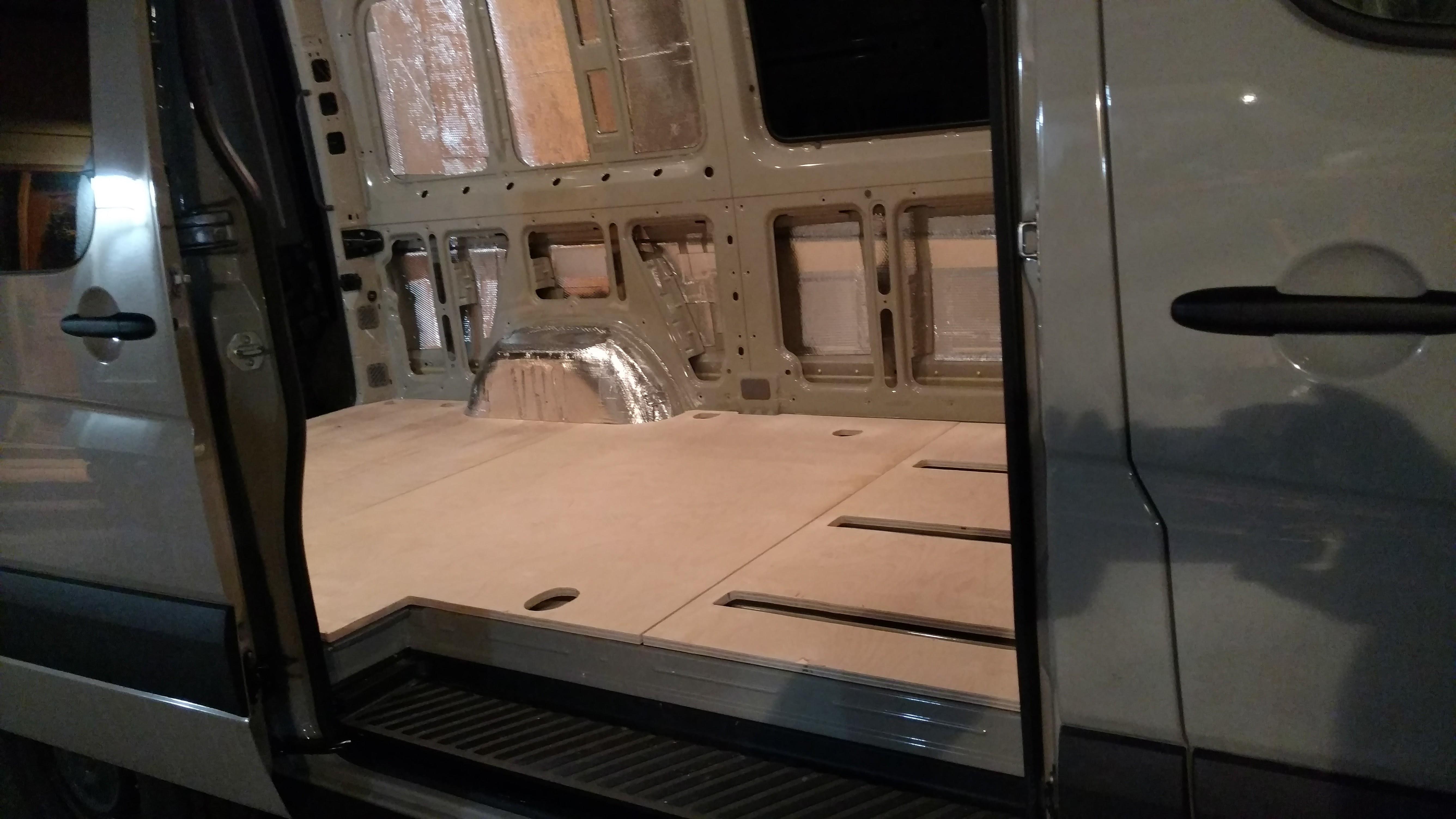 Diy sprinter van insulated floor ridingroadsandtrails for Another word for floor