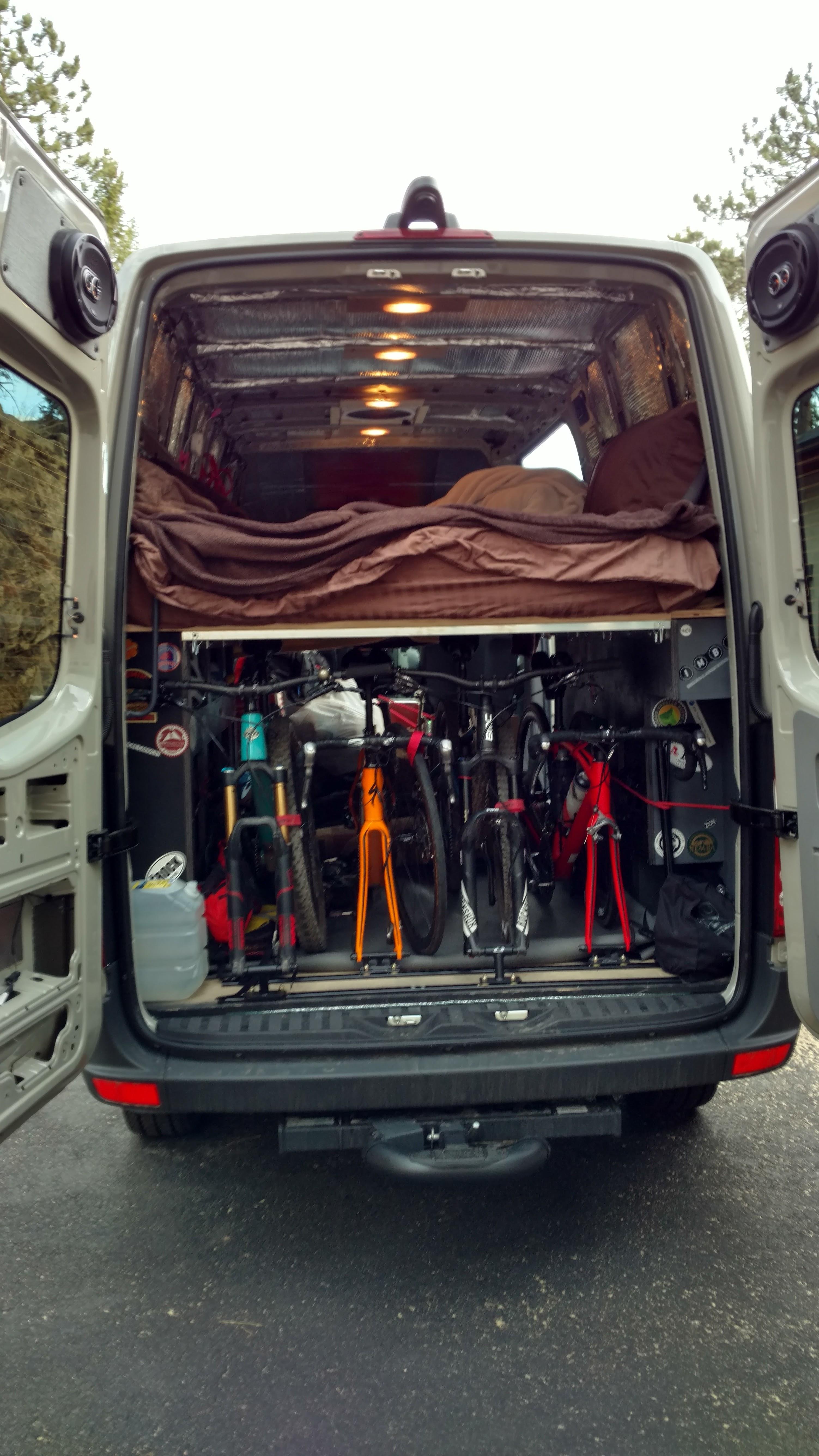 Diy Sprinter Van Bike Mounts Ridingroadsandtrails